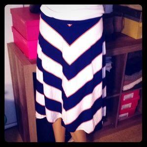 A-lined Chevron Skirt